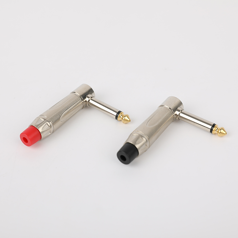 SG-6-03A Silver 6.35mm Audio connector Angle